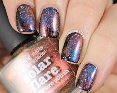 Easy Picture Polish Galaxy Nails