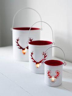Reindeer Hurricane Lanterns