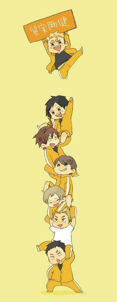 Team Johzenji // Simplicity and Fortitude // Haikyuu Chibi Kawaii, Chibi Anime, Fanarts Anime, Manga Anime, Haikyuu Funny, Haikyuu Fanart, Haikyuu Anime, Kagehina, Kenma