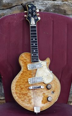 """Stevens """"Paul Glasse Model"""" 5-string electric mandolin... like the pickups and the tailpiece cover"""