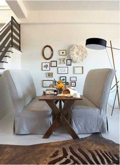 Bright space for dining.