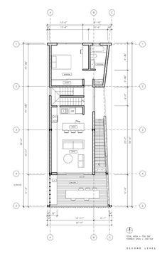 Image 22 of 24 from gallery of Shotgun Chameleon / ZDES. Second Floor Plan
