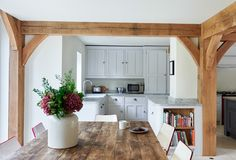 Border Oak, Kitchen Living, Case Study, Kitchens, Barn, Dining, Space, Home Decor, Floor Space