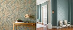 2.-Style-Library-Contracts-Green-bronze-botanical-wallpaper-green-damask