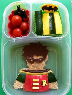 Boy's Robin from Batman Bento Lunchbox Ideas
