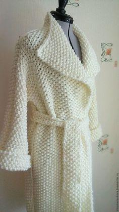 Верхняя одежда ручной работы. Пальто вязаное ЭГОИСТКА. KnittStory (IrinaMerenkova). Интернет-магазин Ярмарка Мастеров. БЕЛОЕ ПАЛЬТО