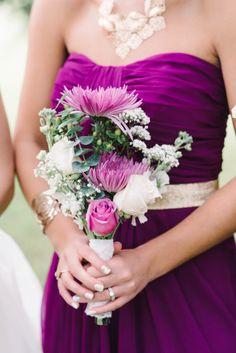 Bridesmaid bouquet: http://www.stylemepretty.com/south-carolina-weddings/charleston/2015/03/02/radiant-runnymede-plantation-wedding/   Photography: Michelle Lange - http://www.loveandbemarried.com/