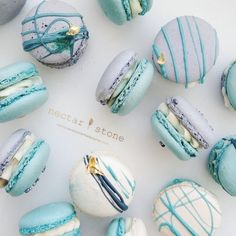 Nectar and stone macaroons Nectar And Stone, Cute Desserts, Delicious Desserts, Dessert Recipes, Yummy Food, Pastry Recipes, Cookie Recipes, Macaron Cookies, Cake Cookies