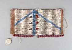 Woman's anklet made of beads (glass), skin (? Leather Thread, Xhosa, Glass Skin, British Museum, African Art, Anklet, Glass Beads, Fiber, Detail