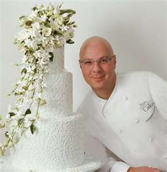 Israeli pastry chef Ron Ben-Israel and one of his gorgeous cakes