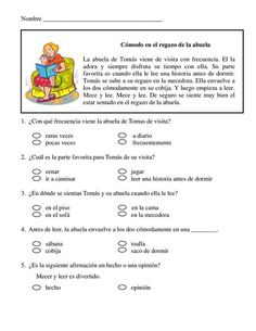 Short story with comprehension questions Spanish Teacher, Spanish Classroom, Teaching Spanish, French Lessons, Spanish Lessons, Speech Language Therapy, Speech And Language, Comprehension Questions, Reading Comprehension