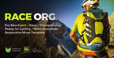 RaceOrg - Pro Cycling Mountain Bike Event / Race / Competition Muse Template - Miscellaneous Muse Templates