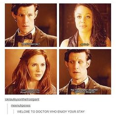 Welcome to Doctor Who - enjoy your stay! - Eleven (11), Melody and Amy Pond - Doctor Who