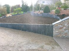 Retenue terre ardoise murets jardins pinterest for Plaque ardoise jardin