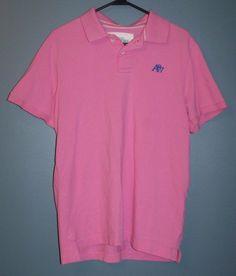 Aeropostale pink cotton  polo shirt mens size L #Aeropostale #PoloRugby