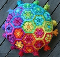I am in love! Reminds me of A Hippie Pillow from Years ago ..