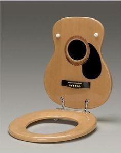 Siège de toilettes guitare                              …