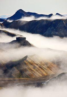 #Jökulgil con niebla en #Islandia #Iceland