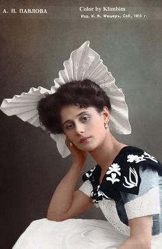 Anna Pavlova Oct Culture, History of Russia, Imperial Russia Old Photography, Portrait Photography, Ballet Russe, Russian Wedding, Colorized Photos, Russian Ballet, Russian Beauty, Imperial Russia, Dance Art