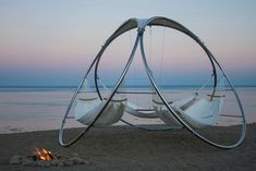 Imagine yourself relaxing on a far away beach, eyes resting comfortably on the horizon and a gentle breeze causing you to swing slightly in this incredible hammock designed by Trinity. Winner of the Innovation award for outdoor furniture at the 2013 Hospitality Design Exposition & Conference in Las Vegas, the Trinity triple hammock reinforces a …
