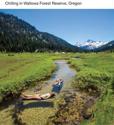 Chilling in Wallowa Forest Reserve, Oregon. This looks like a totally chilled way to spend a summers afternoon. Oh The Places You'll Go, Places To Travel, Travel Destinations, Places To Visit, Dream Vacations, Vacation Spots, Vietnam Voyage, Oregon Travel, Oregon Camping