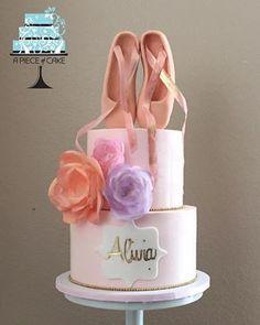 A sweet ballerina themed cake