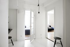 my scandinavian home: An apartment in black, white and blue