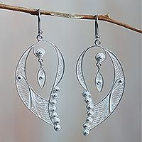 Sterling silver filigree earrings, 'Cherubic Wings' from @NOVICA, They help #artisans succeed worldwide.
