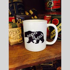 This Pap Bear coffee mug makes the perfect gift for Father's day, for a new dad or a birthday gift.