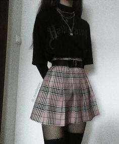 Egirl Fashion, Teen Fashion Outfits, Girl Outfits, Korean Fashion, Retro Outfits, Grunge Outfits, Cute Casual Outfits, Aesthetic Grunge Outfit, Aesthetic Clothes
