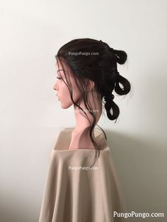 Rey Costume Wig  Star Wars Costume Lace Front Wig   by PungoPungo