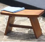Asian-style teak shower stool, Japanese shower bench; bath, deck, pool, garden, furniture    http://www.teakshowerchairs.com/320-asianstyleteakshowerstool      $249.95  on sale $199.95