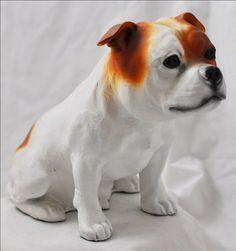 Stafordshire Bull Terrier color dog sitting by ArtDogshopcenter