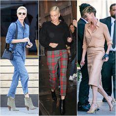 Copiando os looks e o estilo da Charlize Theron Estilo Casual Chic, Casual Chique, Casual Chic Style, Charlize Theron, Jackie Kennedy, Parachute Pants, Street Style, Meghan Markle, Divas