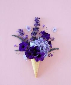 purple and flowers resmi