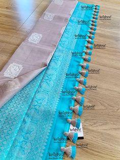 Saree Kuchu New Designs, Saree Tassels Designs, Wedding Saree Blouse Designs, Silk Saree Blouse Designs, Designer Blouse Patterns, Fancy Blouse Designs, Silk Sarees, Fancy Sarees Party Wear, Party Wear Indian Dresses