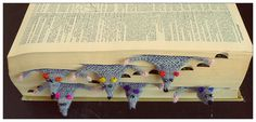 knitted animal bookmark patterns - Google Search