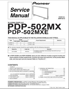 Mitsubishi wd 57731 v33 service manual schematics tv services pioneer pdp 502 mx arp 3075 kuro plasma tv service manual fandeluxe Gallery