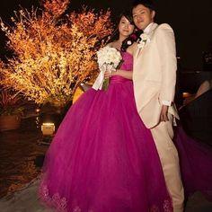 『豪華なチェリーピンクドレス』