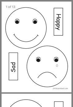 Feelings Preschool, Teaching Emotions, All About Me Preschool, Emotions Activities, Preschool Science, Feelings And Emotions, Feelings Chart, English Activities For Kids, Fun Worksheets For Kids