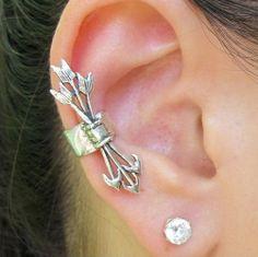 Hunger Games Inspired Non Piercing Ear Cuff, Katniss Everdeen Arrow Ear cuffs