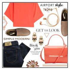 Airoport Style by misskarolina on Polyvore featuring polyvore fashion style Michael Kors Diesel Ted Baker Lizzie Fortunato Happy Plugs Supra clothing GetTheLook airportstyle