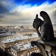 Parvis de Notre-Dame en Paris, Île-de-France