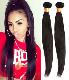 Indian Vogue Natural Black Human Hair Extension Straight Remy Hair Weft Weaves