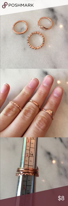 ✨Buy 3 get 3 free✨Set of midi rings From American eagle. Minimal signs of wear (b) American Eagle Outfitters Jewelry Rings