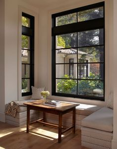 modern nook. Usually not a fan of nooks. but this is simple with clean lines. Not a breakfast nook.