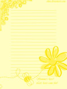 Summer stationary, with friend's awesome brushes! feel free to use, but credit and tell me first pls Summer Stationary Stationary Printable, Printable Lined Paper, Cool Writing, Writing Paper, Diy Note Pad, Stationery Paper, Note Paper, Book Of Shadows, Paper Decorations