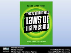 The 22 Immutable Laws Of Marketing by Andreas Ioannou via slideshare