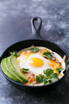 The ultimate breakfast for dinner: personal-sized huevos rancheros baked in a skillet!