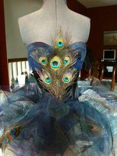 Handmade Peacock Costume by runtornadoxxx on Etsy, $220.00